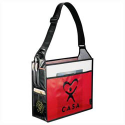 Custom imprinted Laminated Non-Woven Box Deluxe Convention Tote