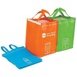 Custom imprinted Recycling Bin Tote Set