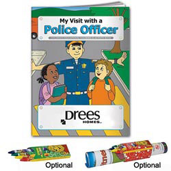 Custom imprinted Coloring Book: My Visit with a Police Officer