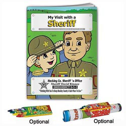 Custom imprinted Coloring Book: My Visit with a Sheriff