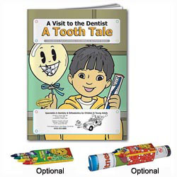 Custom imprinted Coloring Book: A Tooth Tale