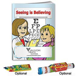 Custom imprinted Coloring Book: Seeing is Believing