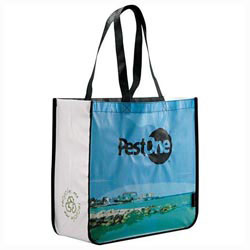 Custom imprinted Laminated Non-Woven Large Shopper Bag