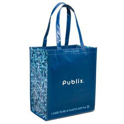 Custom imprinted Laminated 100% Recycled Shopper Bag