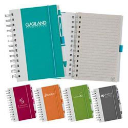 Custom imprinted Write Bright Spiral Notebook And Ballpoint Set