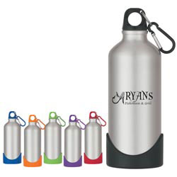 Custom imprinted 25 Oz. Two-tone Stainless Steel Bottle With Rubber