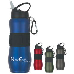 Custom imprinted 28 Oz. Stainless Steel Sport Grip Bottle