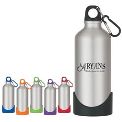 Custom imprinted 20 Oz. Stainless Steel Bike Bottle w Rubber Base