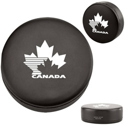 Custom imprinted Hockey Puck Stress Reliever