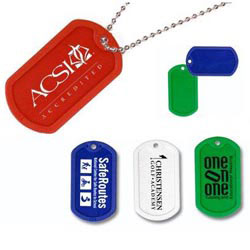 Custom imprinted Plastic Dog Tag With 23 1/2