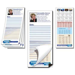 Custom imprinted Note Pad With Magnetic Backer - 25 Sheets