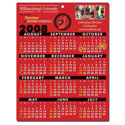 Custom imprinted School Calendar Laminated Card
