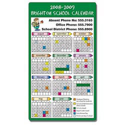 Custom imprinted School Calendar Magnet - Round Corners