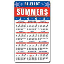 Custom imprinted Political Calendar Magnet-  Round Corners