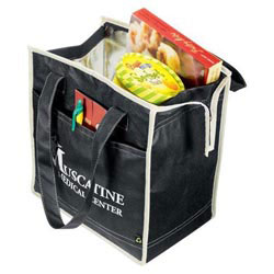 Custom imprinted PolyPro Non-Woven Diamond Insulated Tote