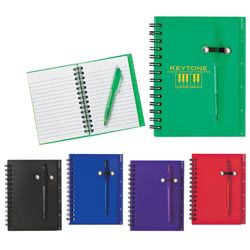 Custom imprinted Spiral Notebook & Pen Set
