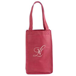 Custom imprinted Non-Woven 2-Bottle Wine Tote
