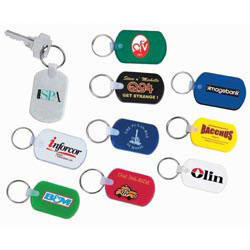 Custom imprinted Rectangular Soft Key Tag