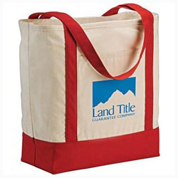 Custom imprinted 12 Oz. Signature Cotton Boat Tote