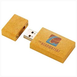 Custom imprinted Eco Paperboard Flash Drive 2GB