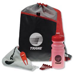 Custom imprinted Drawstring Sport Pack Golf Kit