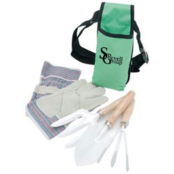 Custom imprinted Garden Tool Set with Apron