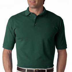 Custom imprinted Anvil Adult Cotton Deluxe Short-Sleeve Pique Polo