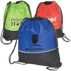 Custom imprinted Non-Woven Textured String Backpack