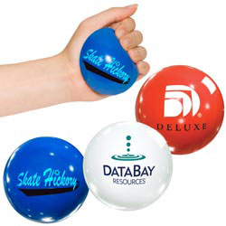 Custom imprinted Lusterball Round Stress Reliever