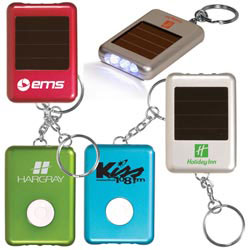 Custom imprinted Solar Safety Key Light