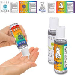 Custom imprinted Mood Dude Hand Sanitizer - 2 oz.