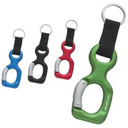 Custom imprinted Aluminum Bottle Shape Carabiner