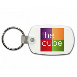 Custom imprinted Standard Key Fob, Full Color Digital