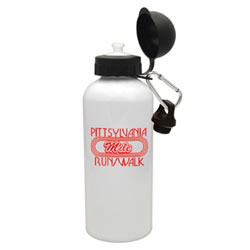 Custom imprinted 20 oz. White Aluminum Cyclist Bottle