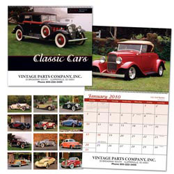Custom imprinted Classic Cars Calendar