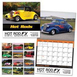 Custom imprinted Hot Rods Calendar