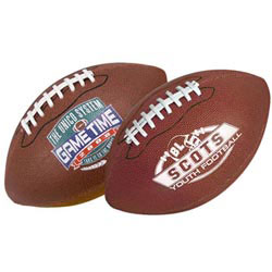 Custom imprinted Full Size Synthetic Leather Football