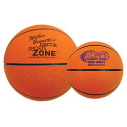 Custom imprinted Full Size Rubber Basketballs