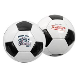 Custom imprinted Full Size Synthetic Leather Soccer Ball