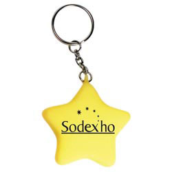 Custom imprinted Star Moodlight Key Chain