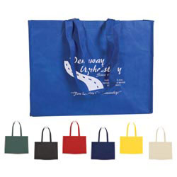 Custom imprinted Non-woven Shopper Tote With Velcro Closure