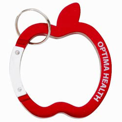 Custom imprinted Apple Carabiner