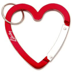 Custom imprinted Heart Carabiner