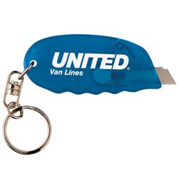 Custom imprinted Safety Cutter Key Tag