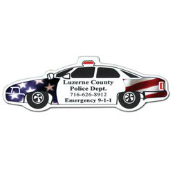 Custom imprinted Full Color Digital Magnet - Police Car