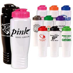 Custom imprinted 28oz. PolyGloss Sport Bottle