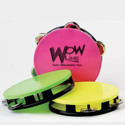 Custom imprinted Neon Tambourine