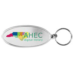 Custom imprinted Oval Metal Key Tag