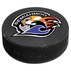 Custom imprinted Official Game Use Ice Hockey Puck, Full Color Dig.