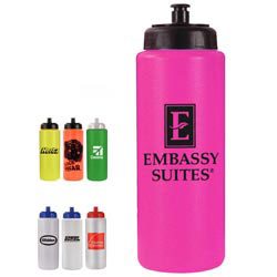 Custom imprinted 32 oz. Sports Bottle with Push 'n Pull Cap
